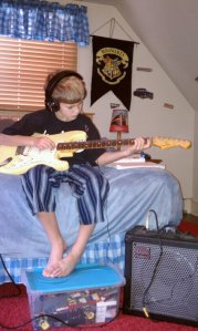 Josh and his Fender